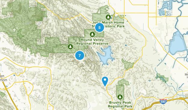 Brentwood, California Hiking Map