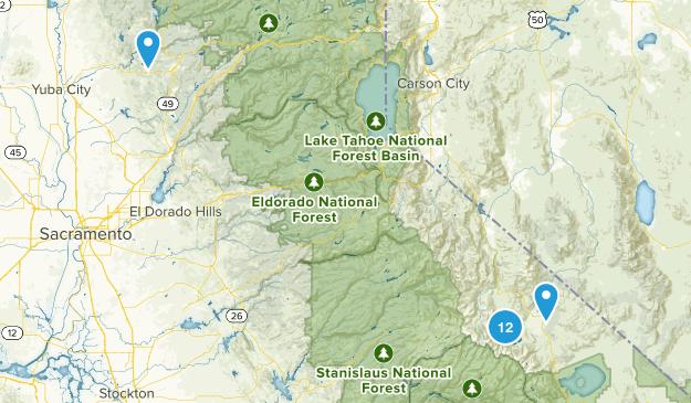Bridgeport, California Hiking Map