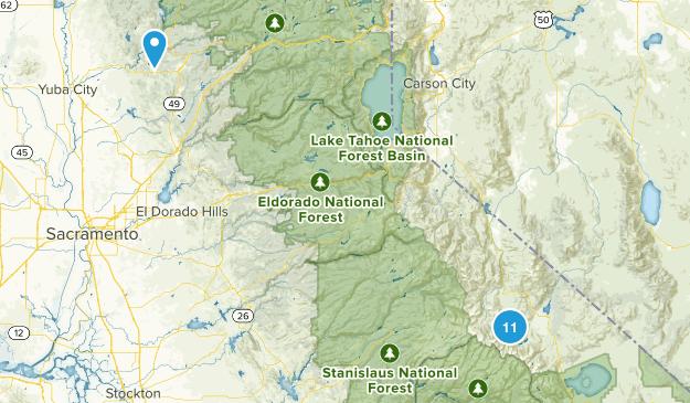Bridgeport, California Lake Map