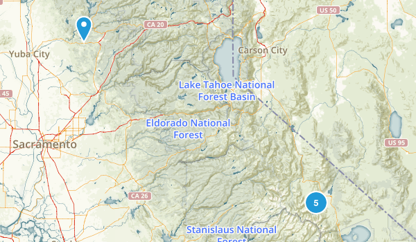 Bridgeport, California Trail Running Map