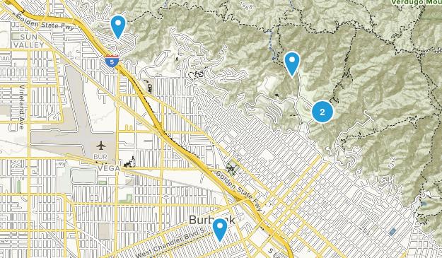 Burbank, California Mountain Biking Map