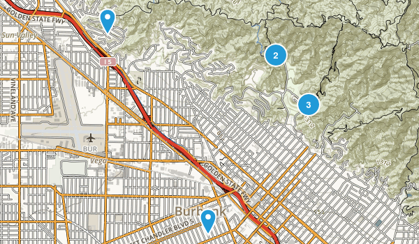 Burbank, California Walking Map