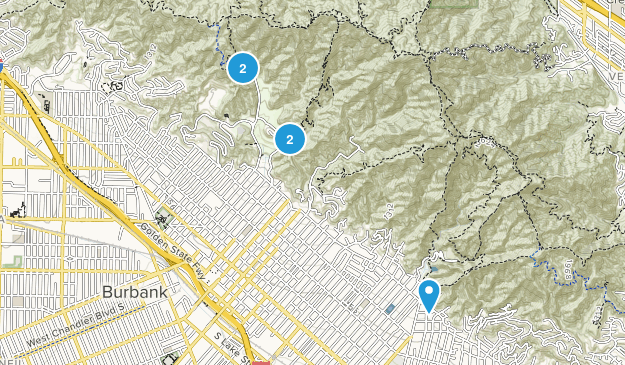 Burbank, California Wildlife Map
