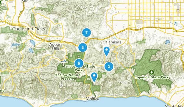 Calabasas, California Hiking Map