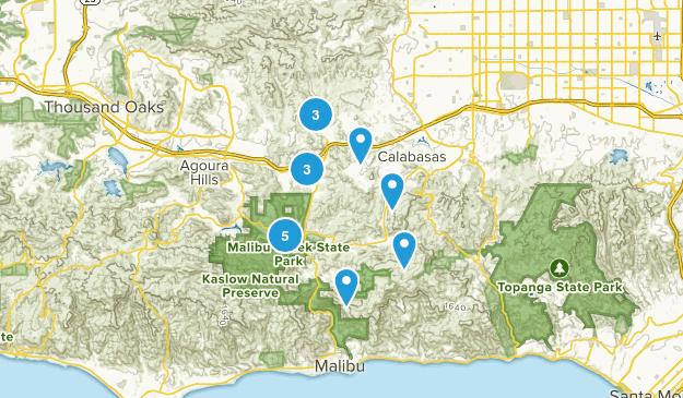 Calabasas, California Trail Running Map