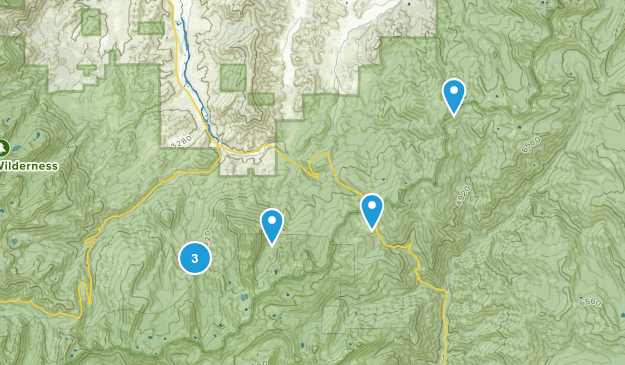 Callahan, California Camping Map