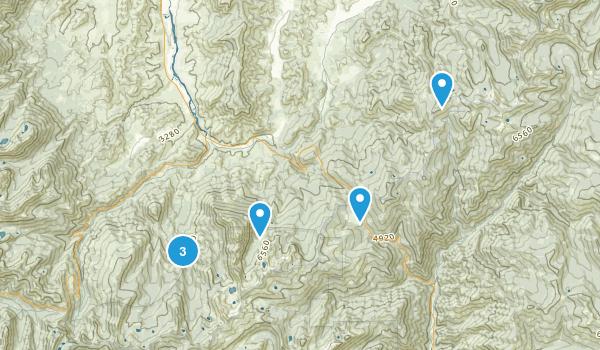 Callahan, California Hiking Map