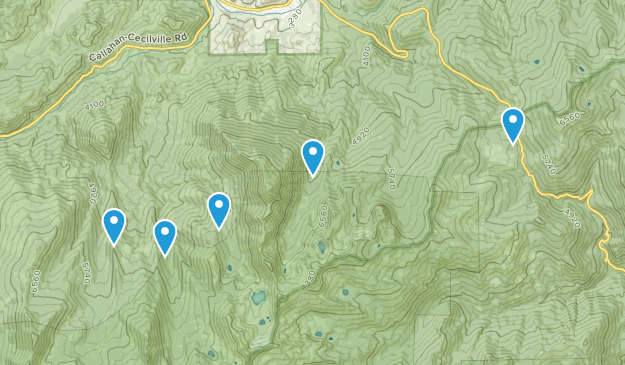 Callahan, California Nature Trips Map