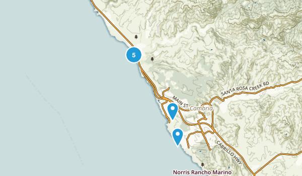 Cambria, California Walking Map