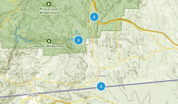 Campo, California Hiking Map