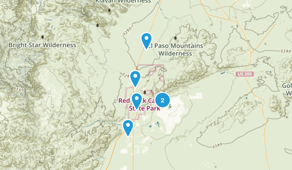 Cantil, California Off Road Driving Map
