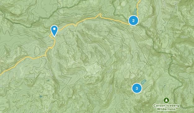Cape Horn, California Camping Map