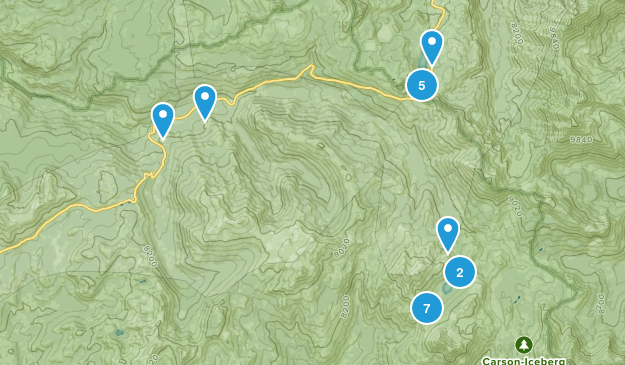 Cape Horn, California Hiking Map