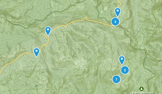 Cape Horn, California Trail Running Map