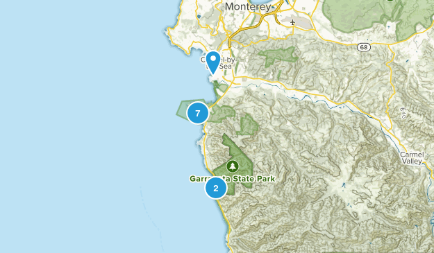 Carmel-by-the-Sea, California Beach Map