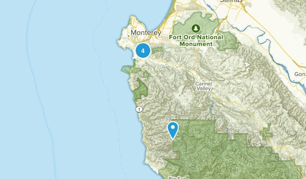 Carmel-by-the-Sea, California Dog Friendly Map