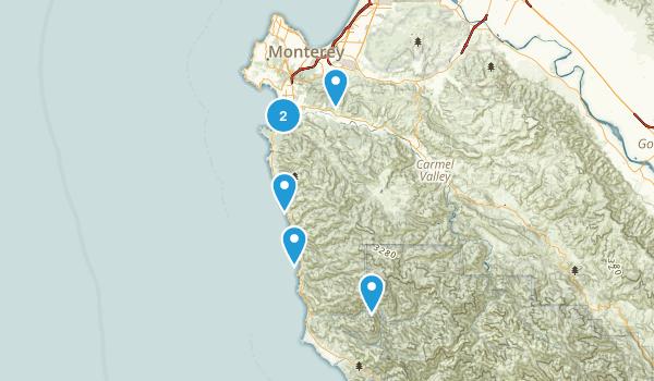 Carmel-by-the-Sea, California Dogs On Leash Map