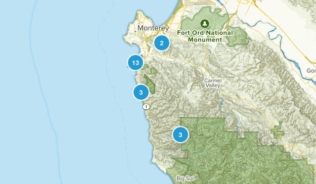 Carmel-by-the-Sea, California Hiking Map