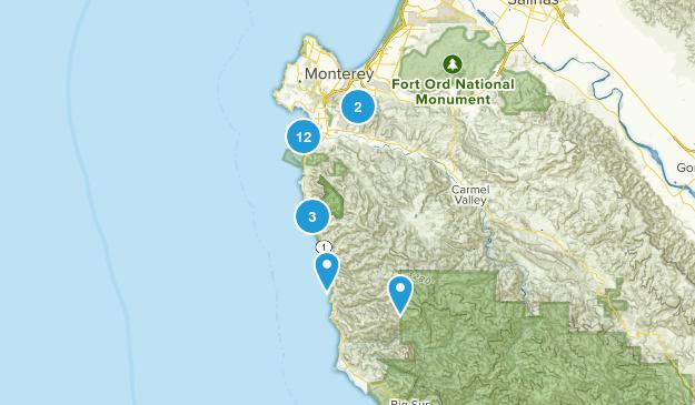 Carmel-by-the-Sea, California Walking Map