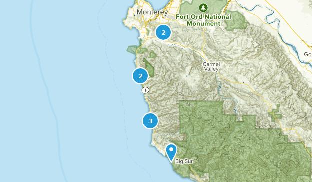 Carmel, California Hiking Map