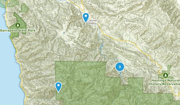 Carmel Valley, California Dogs On Leash Map