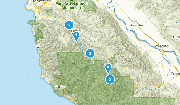 Carmel Valley, California Nature Trips Map
