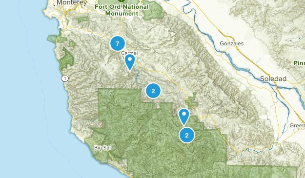 Carmel Valley, California Walking Map