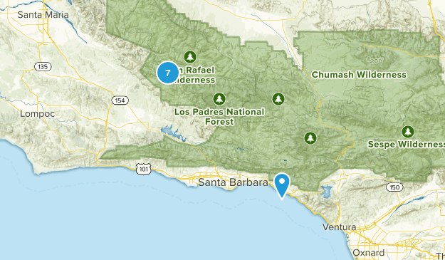 Carpinteria, California Wild Flowers Map