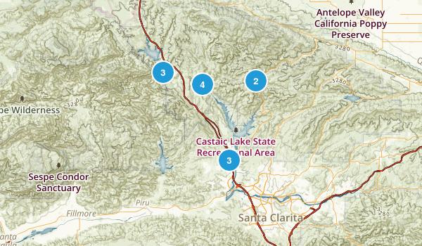 Castaic, California Birding Map