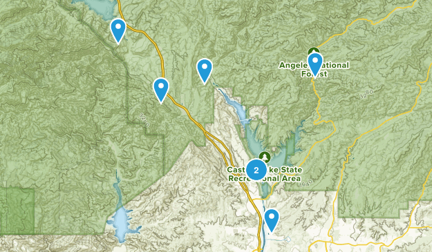 Castaic, California Trail Running Map