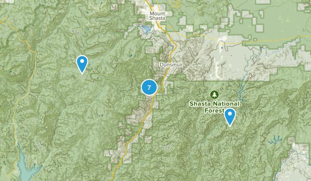 Castella, California Hiking Map