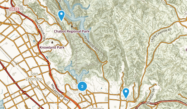 Castro Valley, California Kid Friendly Map