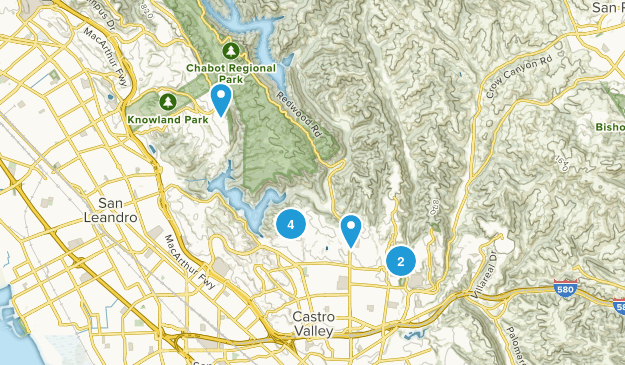 Castro Valley, California Views Map