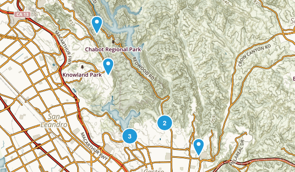Castro Valley, California Walking Map
