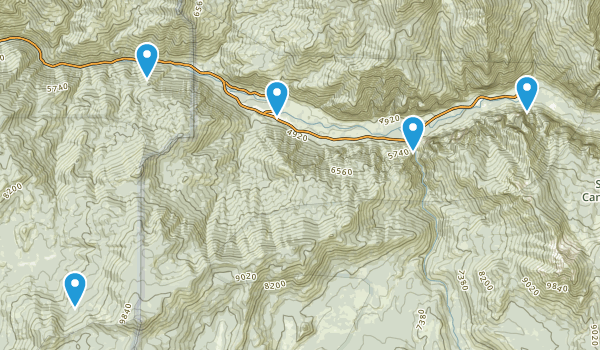 Cedar Grove, California Hiking Map