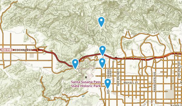 Chatsworth, California Dogs On Leash Map