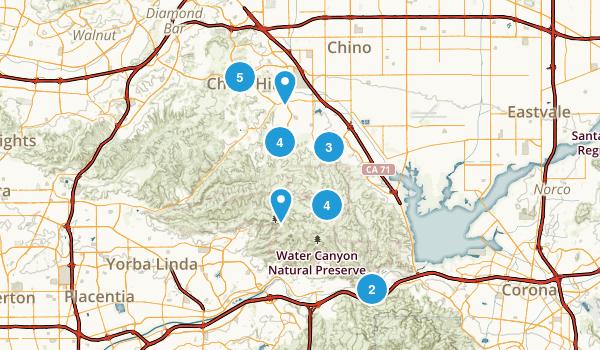 Chino Hills, California Hiking Map