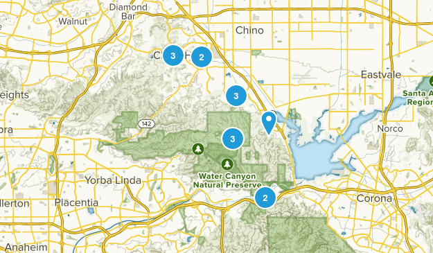 Chino Hills, California Mountain Biking Map