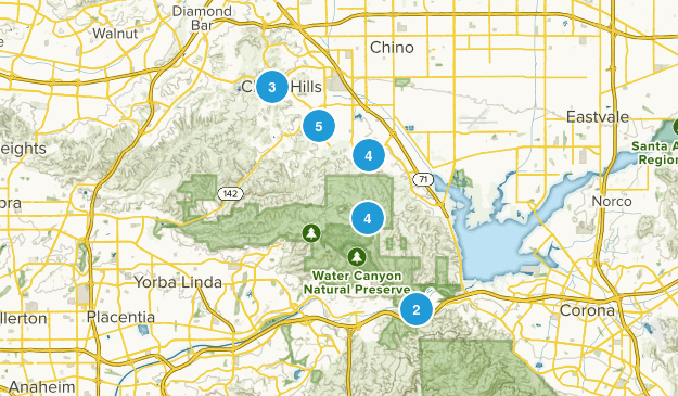 Chino Hills, California Nature Trips Map