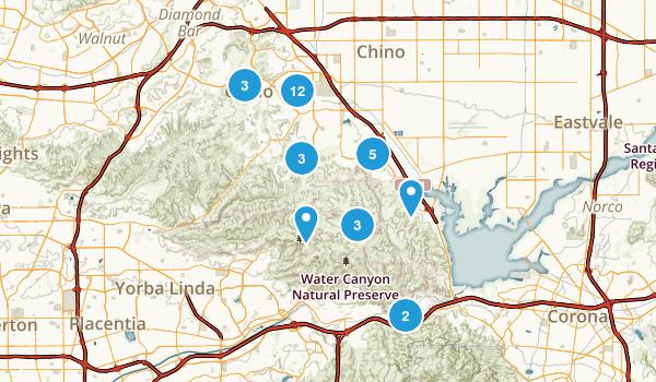Chino Hills, California Trail Running Map