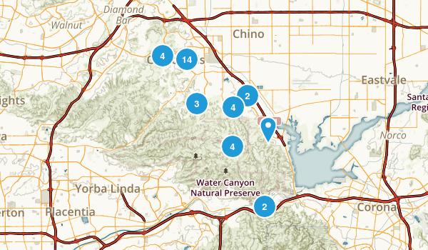 Chino Hills, California Walking Map