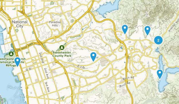 Chula Vista, California Dogs On Leash Map