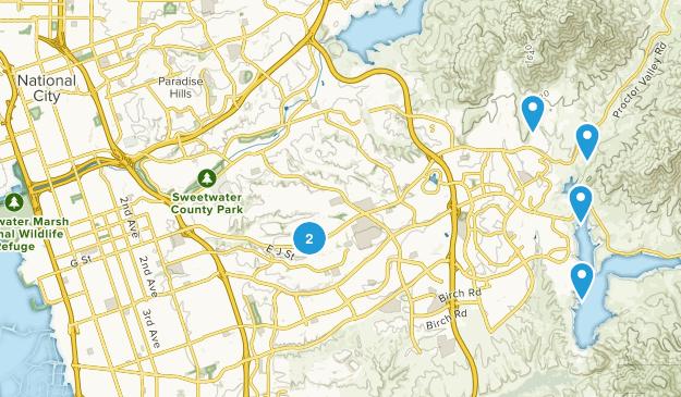 Chula Vista, California Mountain Biking Map