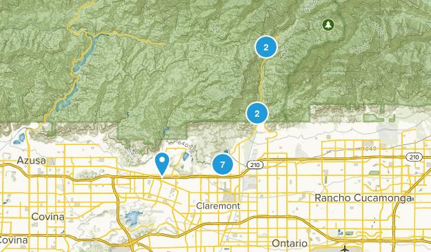 Claremont, California Hiking Map