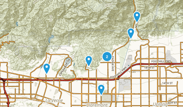 Claremont, California Kid Friendly Map