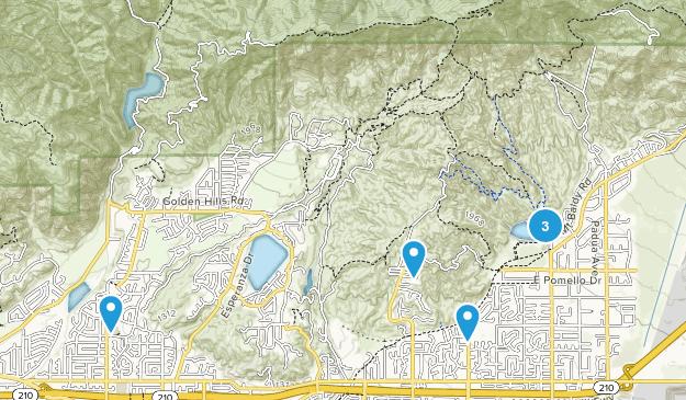 Claremont, California Mountain Biking Map