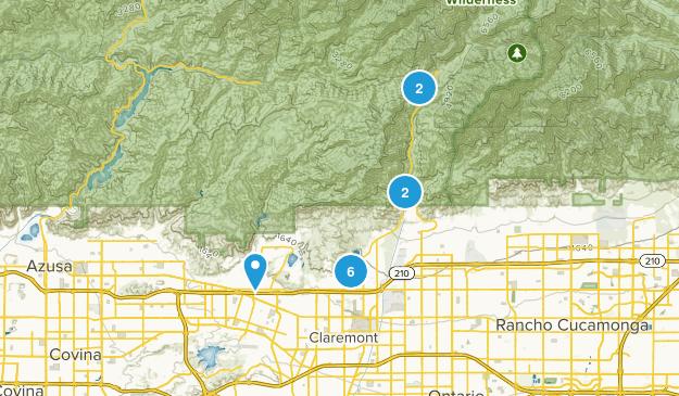 Claremont, California Nature Trips Map