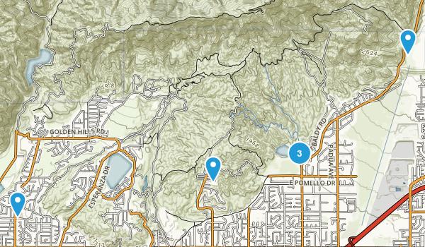 Claremont, California Trail Running Map