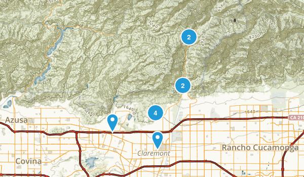 Claremont, California Walking Map