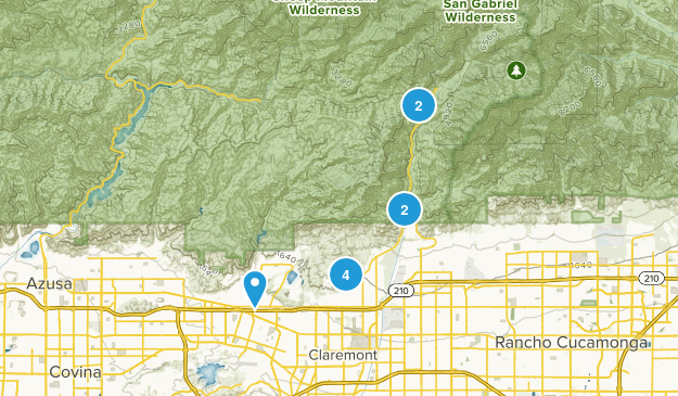 Claremont, California Wild Flowers Map